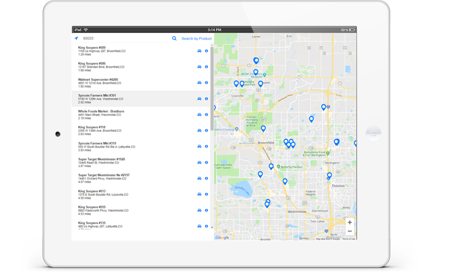 shelfsmart store locator feature